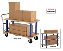 DOUBLE & TRIPLE DECKER HARDWOOD PLATFORM TRUCK